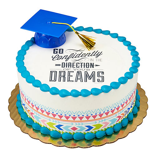 H-E-B Graduation Dreams Round Cake, 8 in