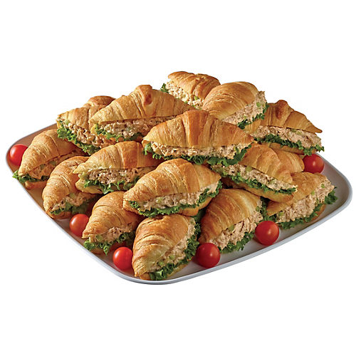 H-E-B Rotisserie Chicken Salad Croissant Party Tray