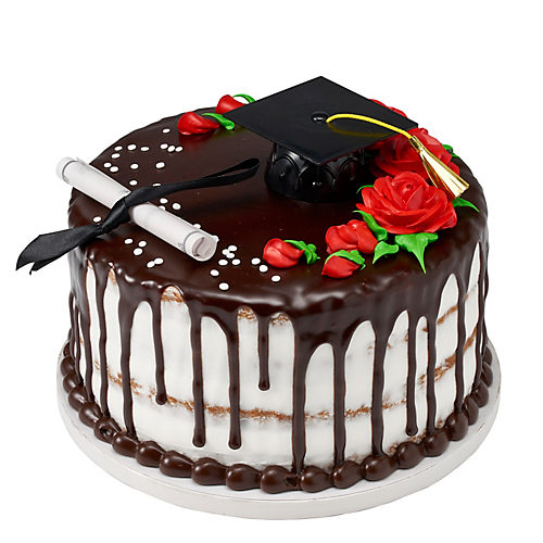 H-E-B Stacked Graduation Roses Cookie Cake, 9 in