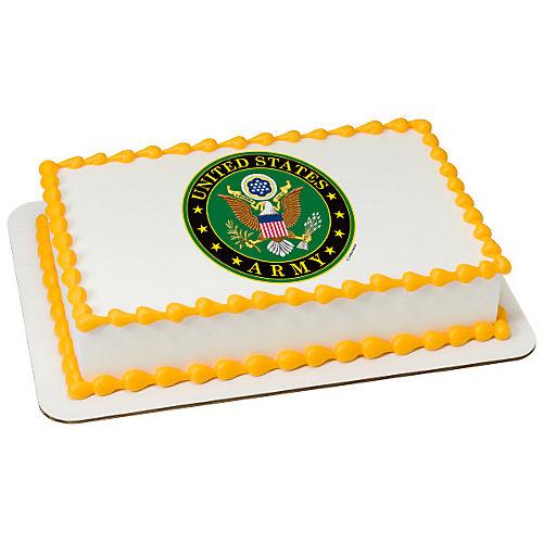 H-E-B U.S. Army Emblem Cake