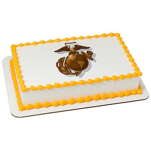 H-E-B U.S. Marine Corps Logo Cake