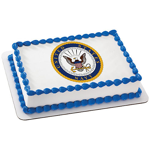 H-E-B U.S. Navy Emblem Cake