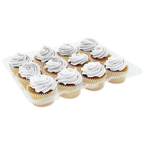 H-E-B White Cupcakes with White Buttercream Icing