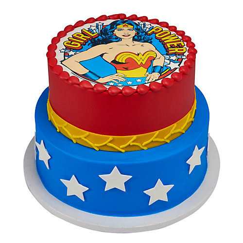 H-E-B Wonder Woman 2 Tier Round Cake