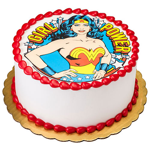 H-E-B Wonder Woman Girl Power Round Cake, 8 in