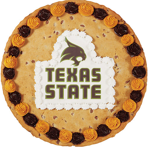 Texas State Chocolate Chip Cookie Cake