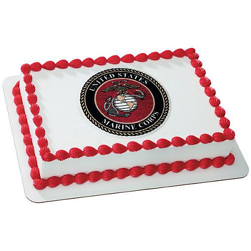 U.S. Marine Corps Emblem Cake