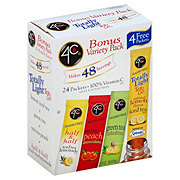 4C Totally Light Tea 2 Go Bonus Variety Pack