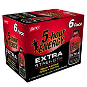 5-hour ENERGY Extra Strength Berry Liquid Energy Shot 6 PK