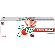 7UP Diet Cherry Soda 12 oz Cans
