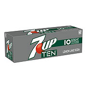 7UP TEN Lemon Lime Soda 12 oz Cans