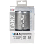 808 Canz Silver Wireless Bluetooth Speaker