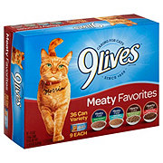 9Lives Meaty Favorites Variety Pack Cat Food