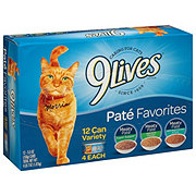 9Lives Pate Favorites Variety Pack Cat Food