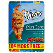 9Lives Plus Care Flavors of Tuna & Egg Cat Food
