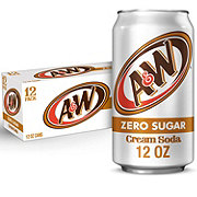 A&W Diet Cream Soda 12 oz Cans