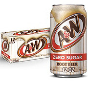 A&W Diet Root Beer 12 oz Cans