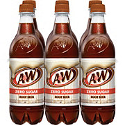 A&W Diet Root Beer 6 PK Bottles