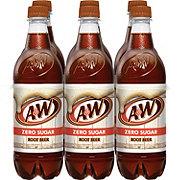 A&W Diet Root Beer 6 PK Bottles