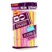 Acadian Trading Neon Flexible Straws