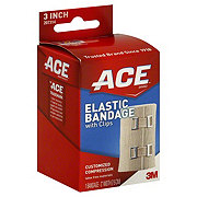 Ace 3 Inch Elastic Bandage With Clips