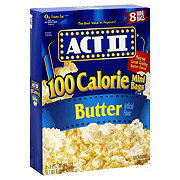 Act Ii Er Microwave Popcorn 100 Calorie Mini Bags At H E B