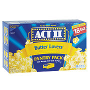 Act II Butter Lovers Microwave Popcorn Pantry Pack