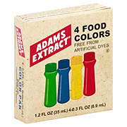 Adams Extract 4 Natural Food Colors
