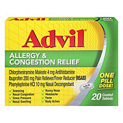 Advil Allergy And Congestion Relief Coated Tablets