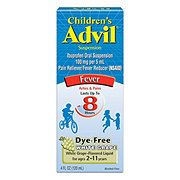 Advil Children's Fever Dye-Free White Grape Fever Reducer/Pain Reliever