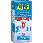 Advil Children's Fever Reducer/Pain Reliever Ibuprofen Oral Suspension Grape-Flavored Liquid For Ages 2-11 Years