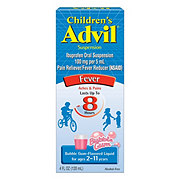 Advil Children's Pain Reliever/fever Reducer Ibuprofen Suspension Ages 2-11 Years Bubble Gum-Flavored Liquid