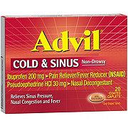 Advil Cold & Sinus Ibuprofen 200 mg/ Pseudoephedrine HCl 30 mg Coated Caplets