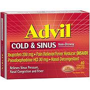 Advil Cold & Sinus Ibuprofen 200 mg/Pseudoephedrine HCl 30 mg Coated Caplets