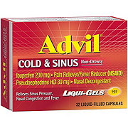 Advil Cold & Sinus Ibuprofen 200 mg/Pseudoephedrine HCl 30 mg Liquid Gels