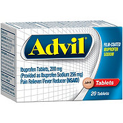 Advil Ibuprofen Sodium 200 mg Coated Tablets