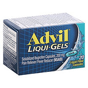 Advil Liqui-Gels Temporary Pain Relief Ibuprofen Liquid Filled Capsules