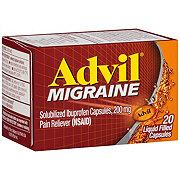 Advil Migraine Pain Reliever Ibuprofen 200 mg Liquid Filled Capsules