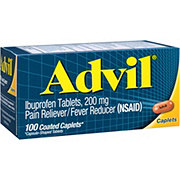 Advil Pain Reliever/Fever Reducer Ibuprofen 200 mg Coated Caplets