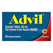 Advil Pain Reliever/Fever Reducer Ibuprofen 200 mg Coated Tablets