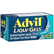 Advil Pain Reliever/Fever Reducer Ibuprofen 200 mg Liquid Filled Capsules