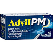 Advil PM Pain Reliever/Nighttime Sleep-Aid Coated Caplets