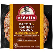 Aidells Bacon and Gouda Chicken Burgers