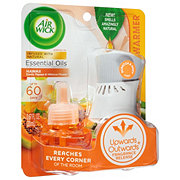 Air Wick Scented Oil Warmer + Exotic Papaya & Hibiscus Refill