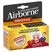 Airborne Immune Support Supplement Very Berry Effervescent Tablets