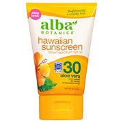 Alba Botanica Hawaiian Aloe Vera SPF 30 Natural Sunblock