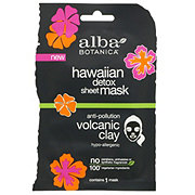 Alba Botanica Hawaiian Detox Sheet Mask Volcanic Clay