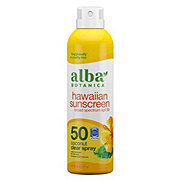 Alba Botanica Hawaiian Sunscreen Coconut Clear Spray SPF50