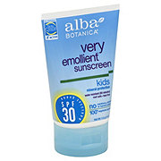 Alba Botanica Natural Very Emollient Broad Spectrum SPF 30 Sunscreen