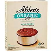 Alden's Organic Mint Fudge Ice Cream Sandwiches